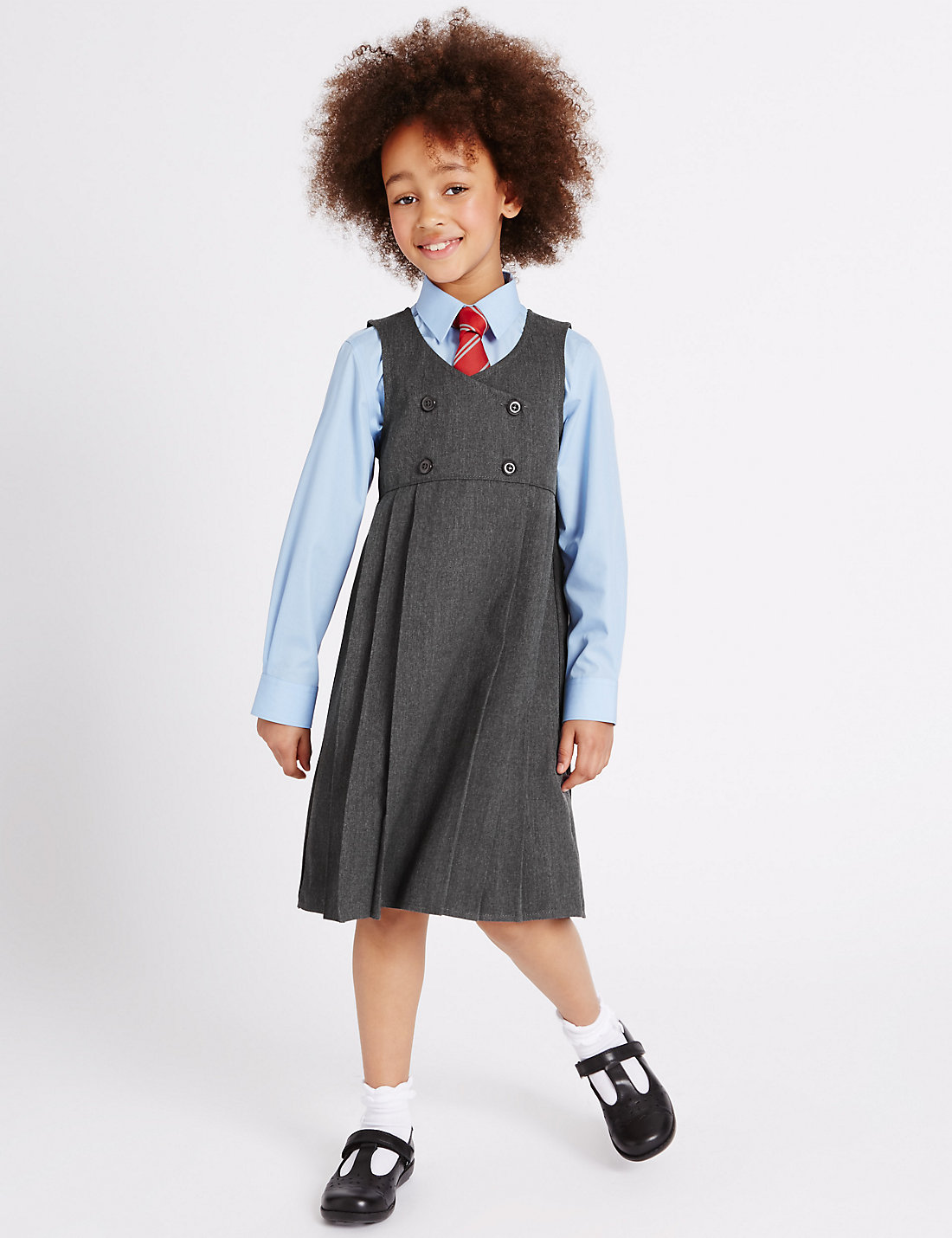 f96298846b Girls' Pinafore with Permanent Pleats – M & S Uniforms