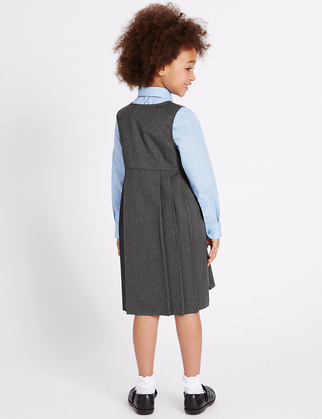 bf704dbdb Girls' Pinafore with Permanent Pleats – M & S Uniforms